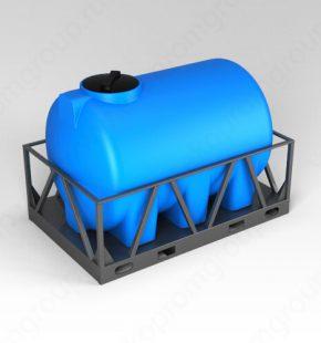 ЭкоПром Емкость H 2000 синий в обрешетке