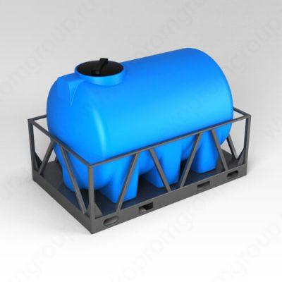 Емкость H 2000 синий в обрешетке