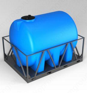 ЭкоПром Емкость H 5000 синий в обрешетке
