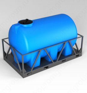 ЭкоПром Емкость H 3000 синий в обрешетке