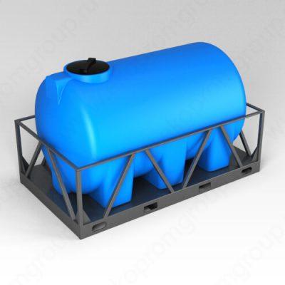 Емкость H 3000 синий в обрешетке